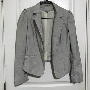 H&M striped blazer size 6